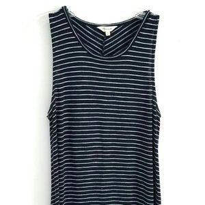 Madewell navy stripe dress